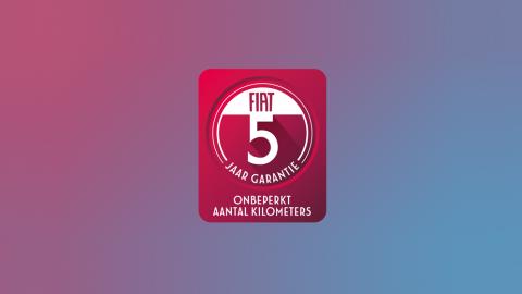 Afbeelding voor Nu standaard op iedere FIAT: 5 jaar garantie!